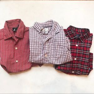 3 Boys Button Front Shirts 4T 5T